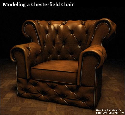 3d artist henning birkeland portfolio for Chair 3d model maya